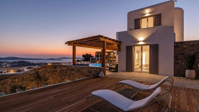 Three Best Wind Sheltered Villas in Mykonos
